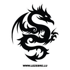 Sticker Dragon Tatuage Motif 23