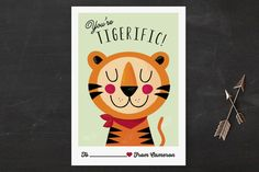 Tigerific Classroom Valentine's Cards by Angela Thompson at minted.com #Minted #Valentines