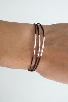 Thin brown bracelets