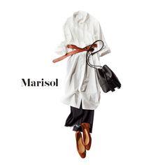 プレ金は、白衣を意識したまっさらコーデで漢方・中医学のセミナーへMarisol ONLINE|女っぷり上々!40代をもっとキレイに。