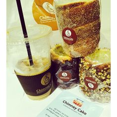 Chimney cake Korea makes a smaller version of Kurtoskalacs.. They serve with hot or ice coffee.