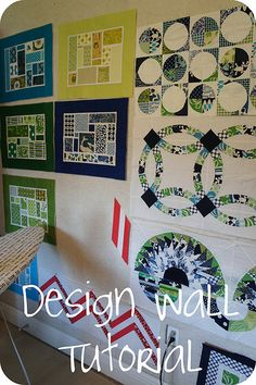 Design Wall Tutorial.  I could see making a smaller, portable version using the same method.