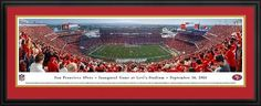San Francisco 49ers Panoramic Picture Deluxe Matted Frame