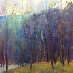 Ken Elliott Wood at the Lake II giclee from 24 x 24 oil on panel