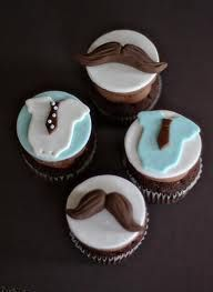 mustache cupcakes for baby shower - Google Search