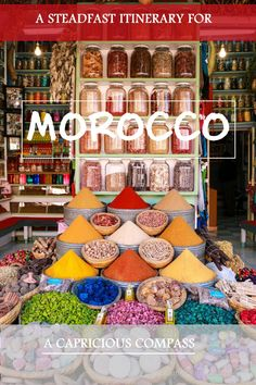 Pit-stops at Kasbah's - An itinerary for Morocco. Heading to Morocco for the first time? Here's an itinerary with the best places to visit, eat and stay in Morocco! The best bit - a night in the Sahara desert! Enjoy!