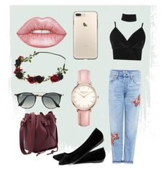 """💕"" by laurence-raymond on Polyvore featuring mode, Citizens of Humanity, Boohoo, Breckelle's, Lime Crime, Ray-Ban et Topshop"