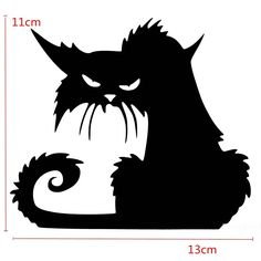 Halloween Scary Black Cat Glass Sticker Halloween Decor - Banggood Mobile