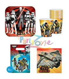 Star Wars Rebels Party Pack http://partyzone.com.au/boys-party-themes-star-wars-party-supplies-biggest-range-c-228_335.html