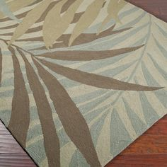 Rain or shine, these Palm Leaf image area rugs look great outdoors or indoors. Coastal Rugs, Coastal Living Rooms, Coastal Decor, Rugs In Living Room, Rugs And Mats, Country Chic Cottage, Modern Outdoor Furniture, Tropical Decor, Indoor Outdoor Rugs