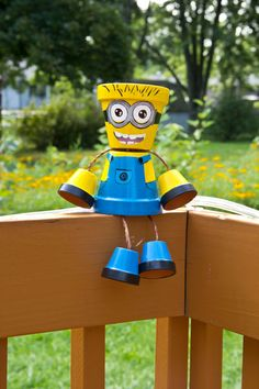 Hand painted and sold on Etsy, comes in 3 different sizes!! https://www.etsy.com/listing/242151959/minion-flower-pot-person?ref=shop_home_active_1