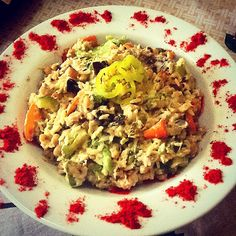 Fish and vegetable risoto