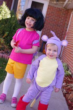 diy dora and boots costumes themombotcom - Swiper Halloween Costume
