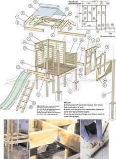 #3072 Backyard Playhouse Plans - Children's Outdoor Plans #kidsplayhouseplans #outdoorplayhouseplans #backyardplayhouse #playhousebuildingplans