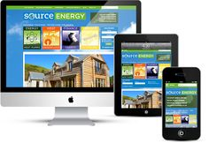 WordPress mobile responsive website design for source energy