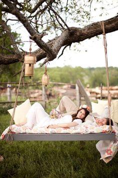 swing for summer wedding