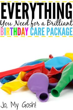 Tons of care package ideas recipes gifts and DIYs for a birthday care package. Perfect for military college students and missionaries. Crafts For Teens To Make, Diy And Crafts, Easy Crafts, Birthday Box, Birthday Cards, Birthday Gifts, Birthday Ideas, Birthday Parties, Happy Birthday