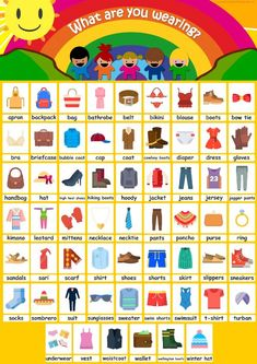 60 clothing flashcards for kids! 60 items of clothing to learn with your kids!