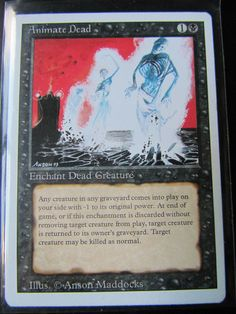 MTG: MAGIC THE GATHERING, REVISED (3RD)EDITION - ANIMATE DEAD - NM!