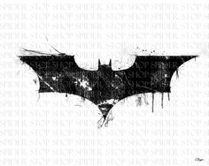 Dark Knight Symbol Grunge 24 x 18 by SpiderStopShop on Etsy, $15.00