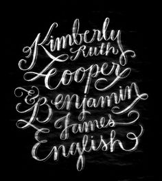chalkboard lettering | molly jacques.