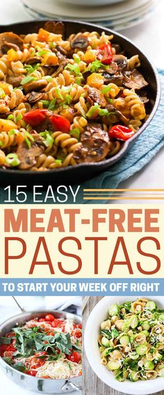 15 Delicious Pastas With No Meat - Meatless Monday just got a whole lot tastier.