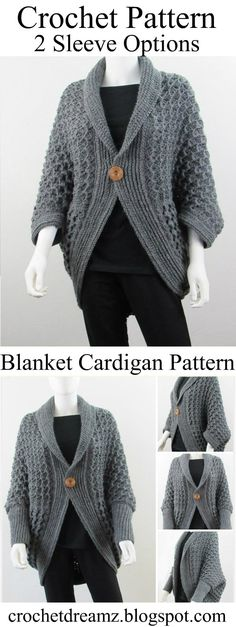 This easy crochet Cocoon Cardigan crochet pattern is really fun to make. The end product is a comfy and classy blanket sweater that you wouldn't want to take off.