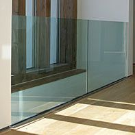 frameless glass panel banisters