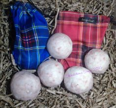 Tartan Pouch with Soap Balls by skinsationssoap on Etsy