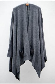 Closed Anthracite Shawl Cardigan | $478