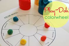 Play Doh Colorwheel Activity | Deep Space Sparkle