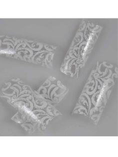 100pcs Charming Clear White Floral Design French Acrylic False Nail Art Tips *** Read more reviews of the product by visiting the link on the image.