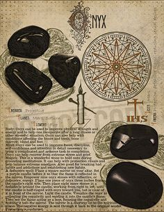 Onyx, Book of Shadows printable page. Wiccan Spell Book, Witch Spell, Pagan Witch, Wiccan Spells, Magick, Witchcraft, Witches, Crystal Magic, Crystal Healing Stones