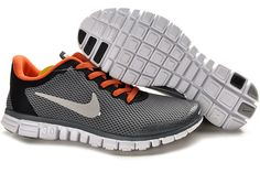 best service 6944a 94c26 Mens Nike Free 3.0 V2 Dark Grey Red Orange Shoes Discount Nike Shoes, Nike  Shoes