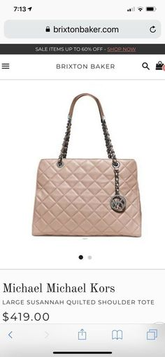 97c5c39b7560 NWT Michael Kors Susannah Large Quilted Leather Bag Ballet Pink. eBay