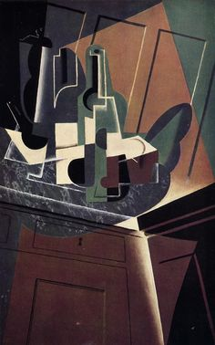 The Sideboard 1917   Juan Gris   Oil Painting #cubism
