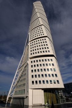 """HSB Turning Torso is the tallest skyscraper in Sweden and the Nordic countries, situated in Malmö, Sweden on the Swedish side of the Öresund strait. When completed, it was the tallest building in Scandinavia"" - wikipedia"