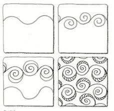 Risultati immagini per zentangle tutorial step by step