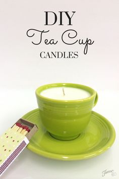DIY Tea Cup Candles, use beeswax instead of soy Homemade Candles, Diy Candles, Teacup Candles, Candle Jars, Fiesta Colors, Recycled Home Decor, Diy Mothers Day Gifts, Candlemaking, Just Dream
