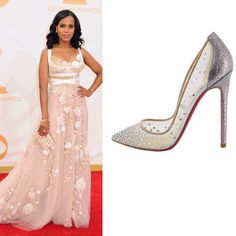 Kerry Washington in Christian Louboutin Body Strass Mini Glitter