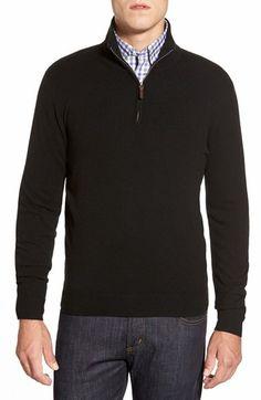 John W. Nordstrom® Quarter Zip Cashmere Sweater (Regular & Tall)