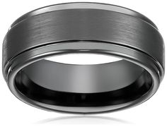 this is what Jeff has...just showing you somewhere to start...we WAY overpaid for Jeff's 1st ring...so I suggest getting something online 8mm Black High Polish / Matte Finish Men's Tungsten Ring Wedding Band Sizes 6 to 15 (10)