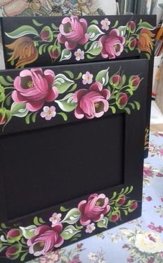 One Stroke Painting, Tole Painting, Rosemaling Pattern, Pintura Country, Romania, Folk Art, Decoupage, Decorative Boxes, Hand Painted