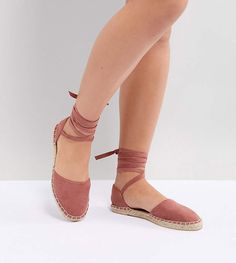 0493b54a5848d New Look Wide Fit Ankle Tie Espadrille