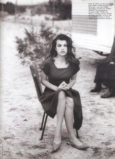 """Lolita 1990"", Vogue France, May 1990Photographer: Peter LindberghModel: Milla Jovovich"