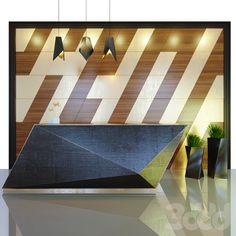 3d модели: Офисная мебель - Reception 8