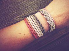 Beautiful Handwoven Seven-String Macrame Bracelet by Yogamoodra