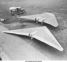 Royal Aircraft Establishment tests on Horten V, VI, and VII flying wings