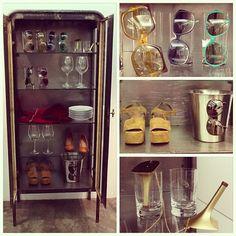 Achados da nova | mente! Nossa cristaleira vintage mais produtos incríveis!