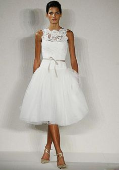 short bateau neckline knee-length lace tulle satin summer a-line wedding bridal evening cocktail dress